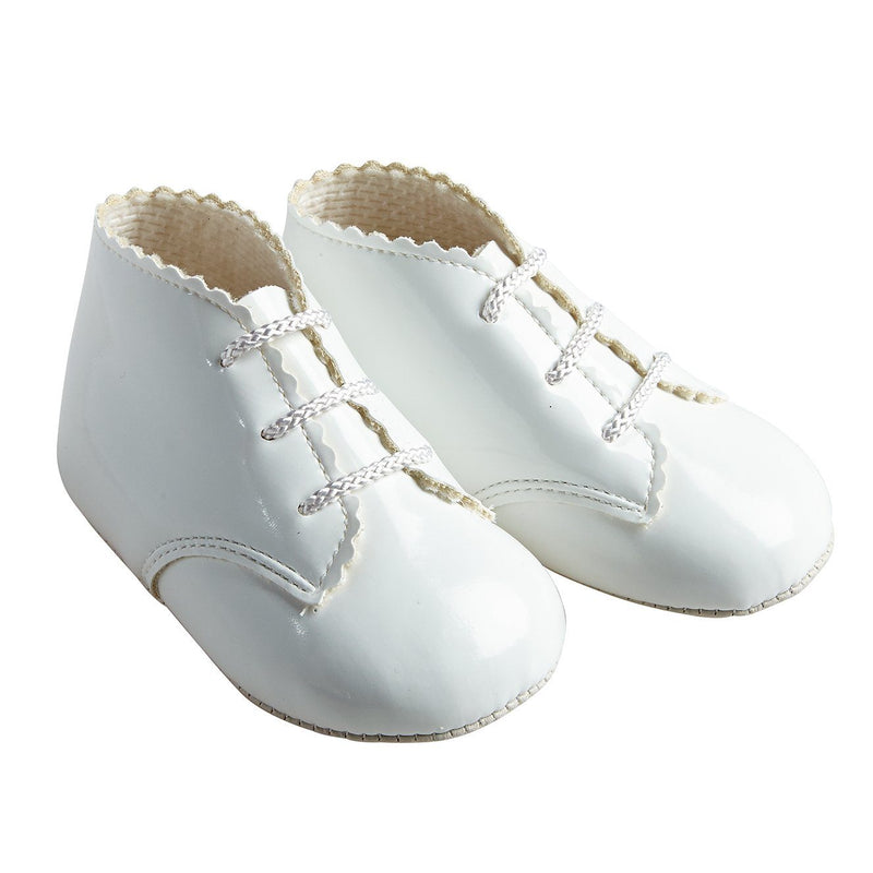 Baypods White Patent Soft Sole Booties | Millie and John