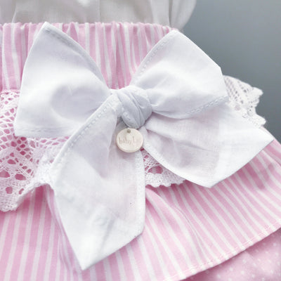 Baby Lai White & Pink Skirt and Blouse | Millie and John