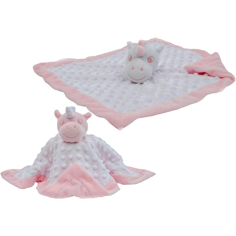 Soft Touch White & Pink Unicorn Comforter | Millie and John