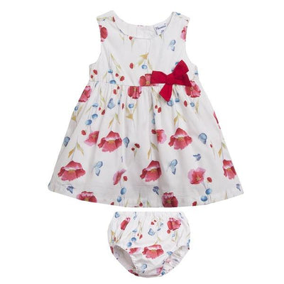 Newness White & Red Floral Dress and Knickers | Millie and John
