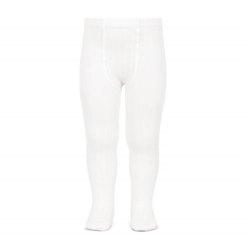 Condor White Ribbed Tights | Millie and John