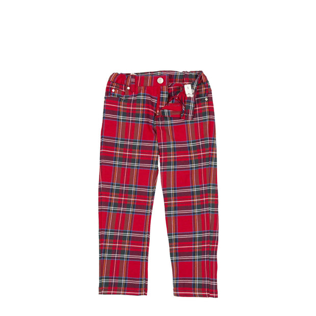 Tutto Piccolo White Shirt & Red Tartan Trousers | Millie and John