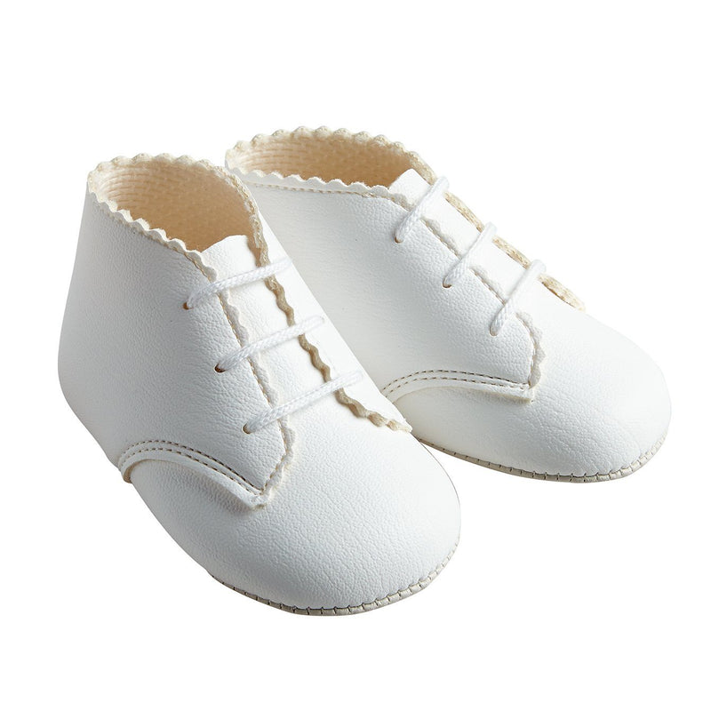 Baypods White Matte Soft Sole Booties | Millie and John