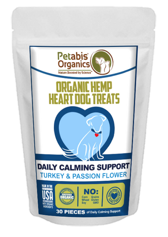 Petabis - Calming Hemp Hearts Dog Treats