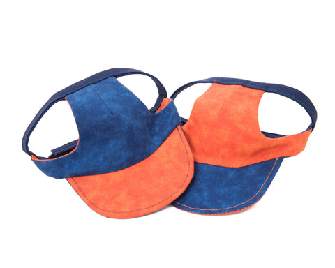 Blue/Orange Dog Visor