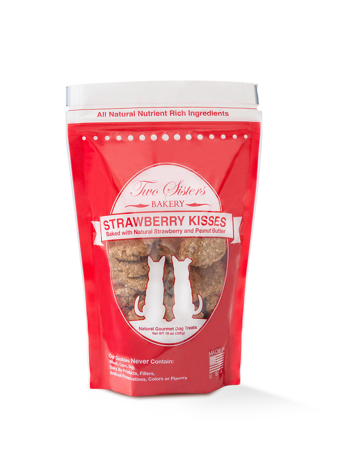 Two Sister's Bakery - Strawberry Kisses Dog Treats