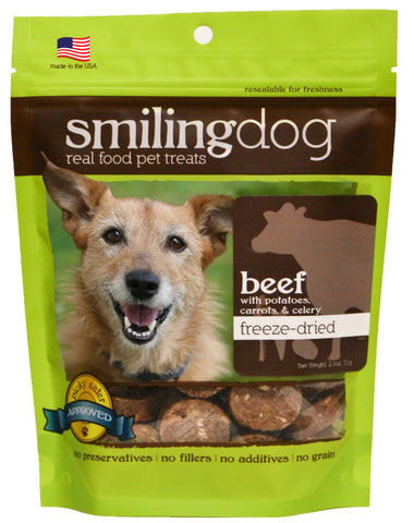 Herbsmith - Freeze Dried Smiling Dog Treats - Beef, Potato, Carrots & Celery