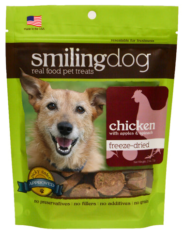 Herbsmith - Freeze Dried Smiling Dog Treats - Chicken, Apples, & Spinach