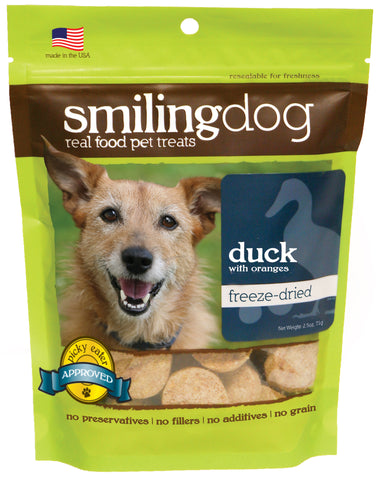 Herbsmith - Freeze Dried Smiling Dog Treats - Duck & Orange