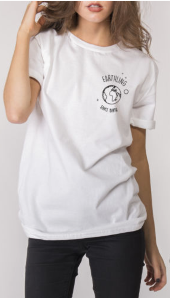 Earthling T-shirt - White/Grey