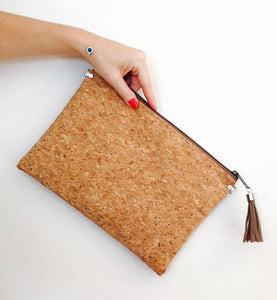 Vegan Cork clutch bag - 4 Styles