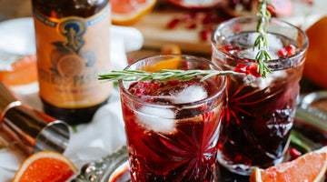 Pomegranate-Rosemary Gin Fizz