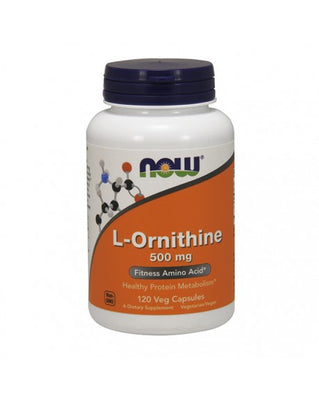 NOW L-Ornithine 500mg 120 Cápsulas Vegetais