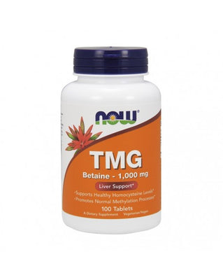 NOW TMG Betaine 1000mg 100 Comprimidos