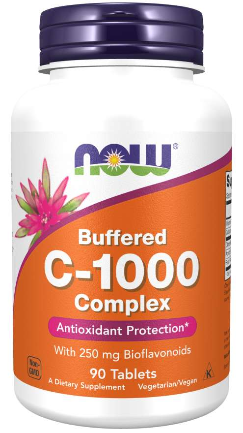 NOW Vitamin C-1000 Calcium Ascorbate 90 Comprimidos