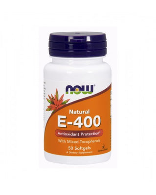 NOW Vitamina E-400 50 Cápsulas