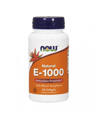 NOW Vitamina E-1000 50 Cápsulas
