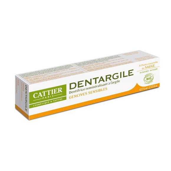 Pasta de Dentes de Argila + Salva 75ml - Cattier