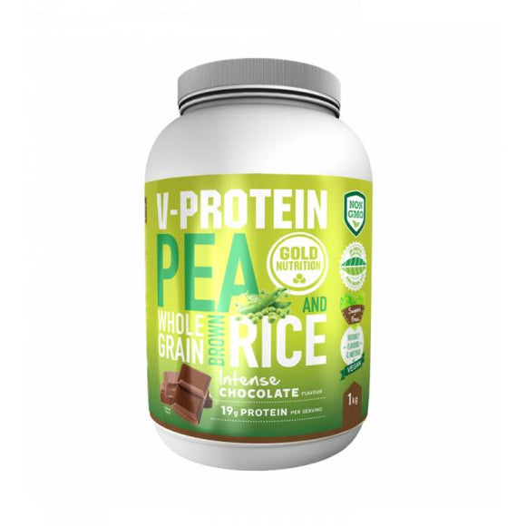 V-Protein Whole Grain Pea & Rice 1Kg Chocolate - GoldNutrition
