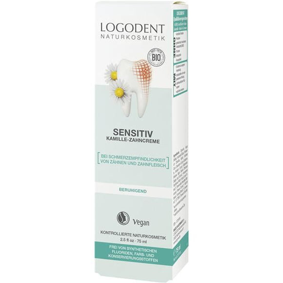 Pasta de Dentes Sensitive Camomila 75ml - Logona
