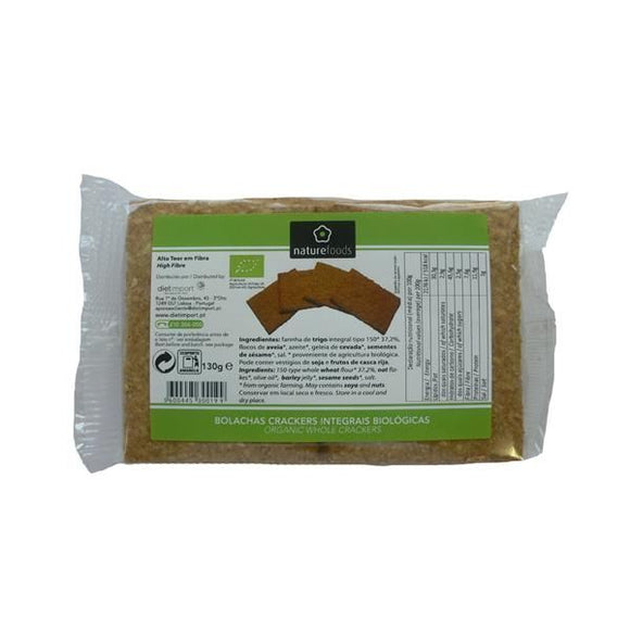 Crackers Integrais Biológico 130g - Naturefoods