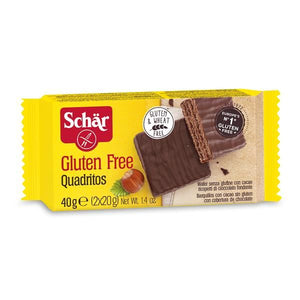 Dark Chocolate Covered Cocoa Wafer 40g - Schar - Crisdietética