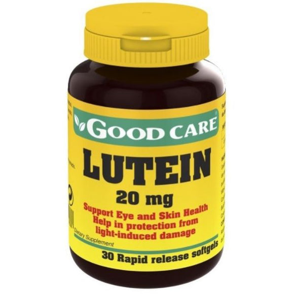 Lutein 20mg 30 Cápsulas - Good Care - Crisdietética
