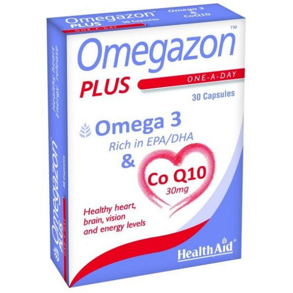 Omegazon Plus c / CoQ10 30 Cápsulas - Health Aid