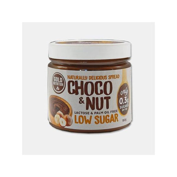 Choco & Nut Low Sugar Spread 180g - GoldNutrition