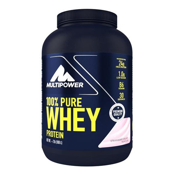Pure Whey Protein Morango 900g - MultiPower