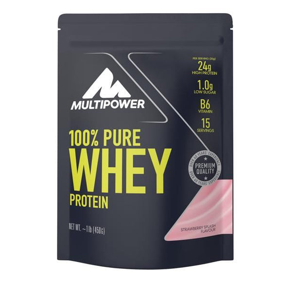Pure Whey Protein Morango 450g - MultiPower