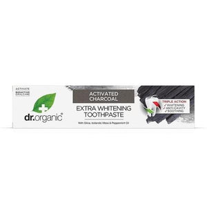 Activated Charcoal Whitening Toothpaste 100ml - Dr.Organic - Crisdietética