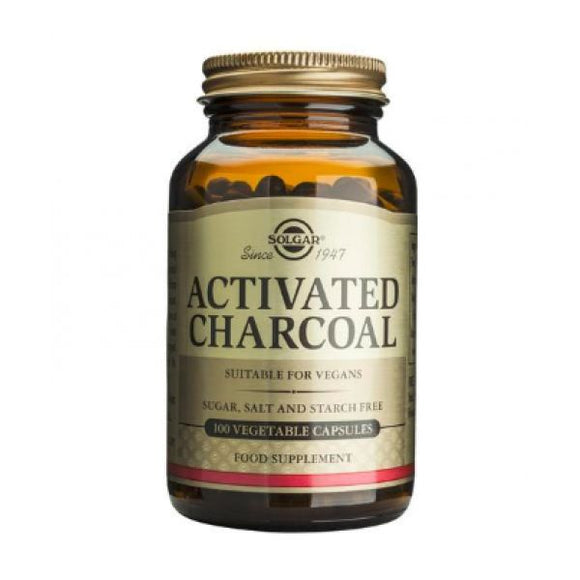 Activated Charcoal 100 Veg. Cápsulas - Solgar