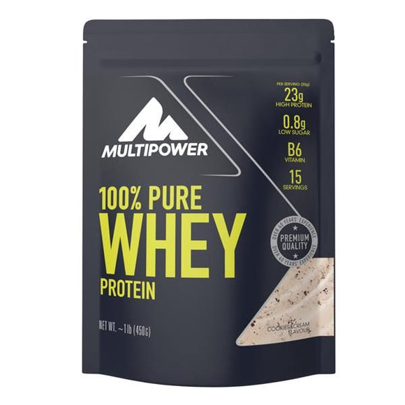 Pure Whey Protein Cookies And Cream 450g - MultiPower