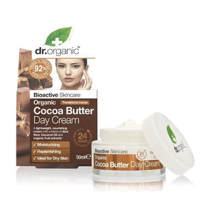Day Cream with Cocoa Butter 50ml - Dr.Organic - Crisdietética