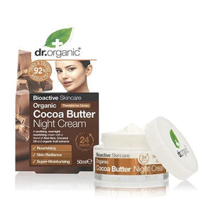 Night Cream with Cocoa Butter 50ml - Dr.Organic - Crisdietética