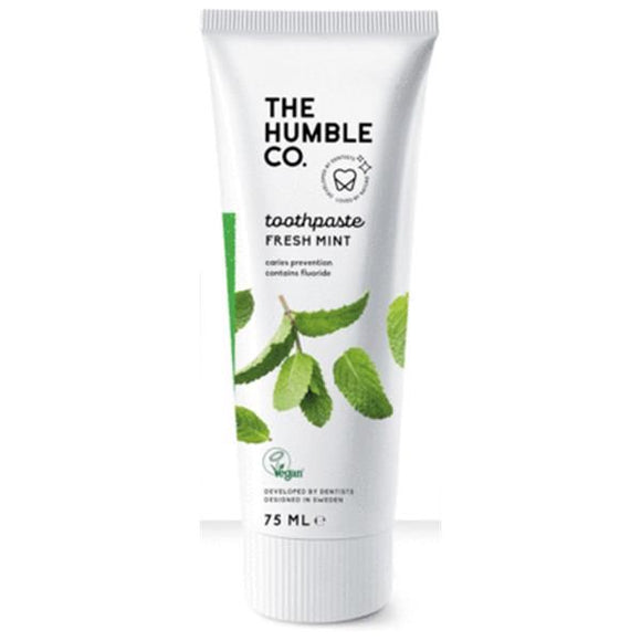 Pasta de Dentes com Flúor de Menta 75ml - The Humble Co - Crisdietética