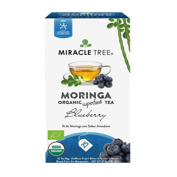 Chá de Moringa e Mirtilo 25 Saquetas - Miracle Tree