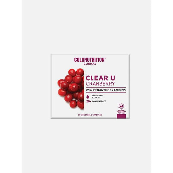 Clear U Cranberry 30 Cápsulas - GoldNutrition