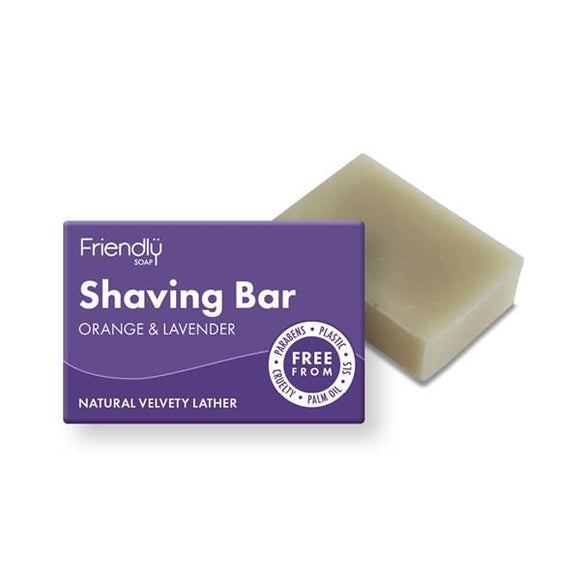 Sabonete Espuma de Barbear Laranja e Alfazema 95g - Friendly Soap