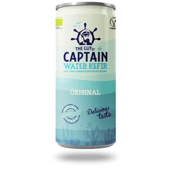 Water Kefir Biológico Original 250ml - The Gutsy Captain - Crisdietética