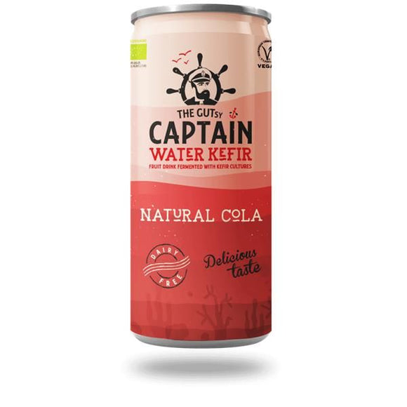 Water Kefir Biológico Cola 250ml - The Gutsy Captain - Crisdietética