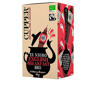 Chá English Breakfast Bio 20 Saquetas 44g - Cupper - Crisdietética