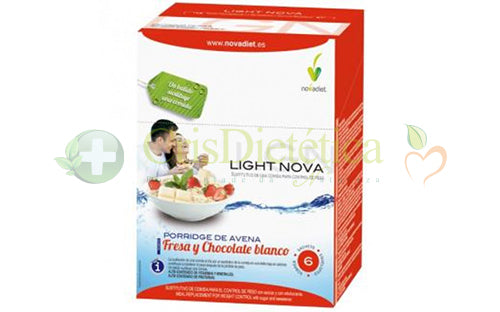 Light Nova Porridge Morango/Chocolate Branco 6 x 35g - Novadiet