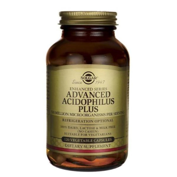 Advanced Acidophilus Plus 120 Veg.Cápsulas - Solgar