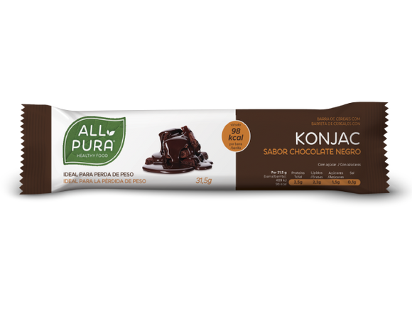 Barra de Ceral Konjac com Chocolate Negro - All Pura