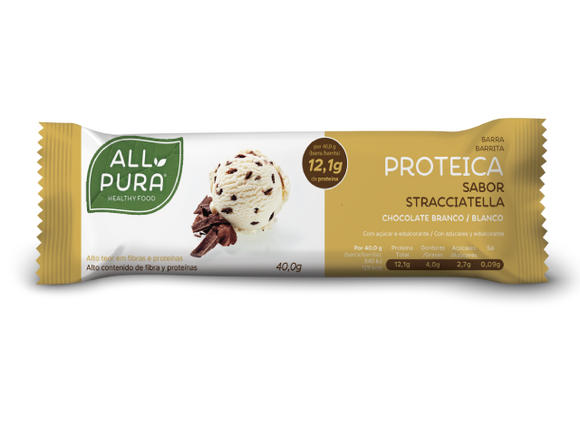 Barra Proteica Chocolate Branco 40g - All Pura