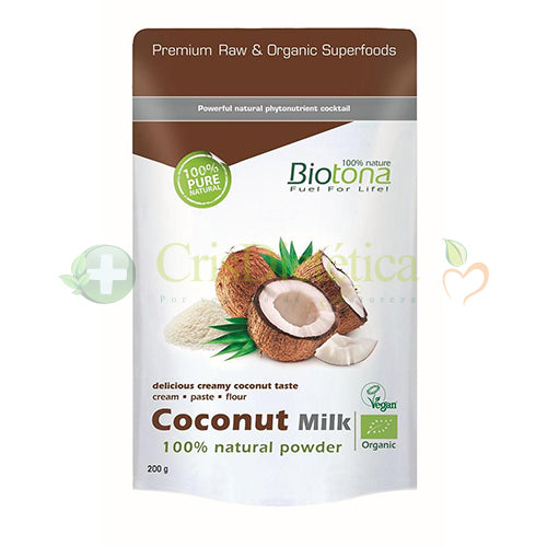 Coconut Milk Natural Powder 200g - Biotona