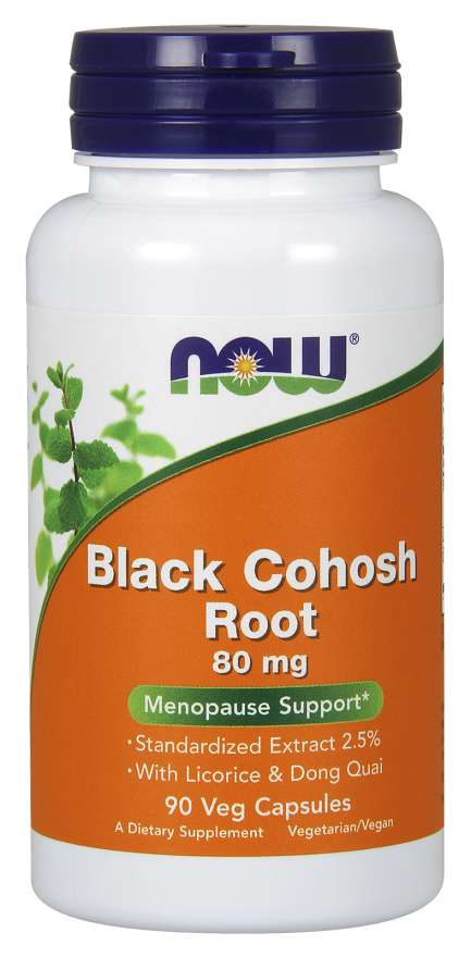 NOW Black Cohosh Extracto 80mg 90 Cápsulas - Crisdietética