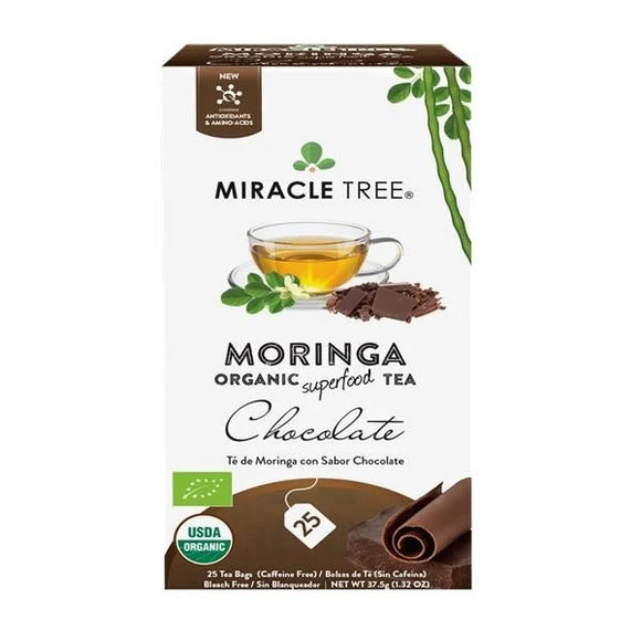 Chá de Moringa e Chocolate 25 Saquetas - Miracle Tree